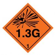 Hazard safety sign - Explosive 1.3G 024